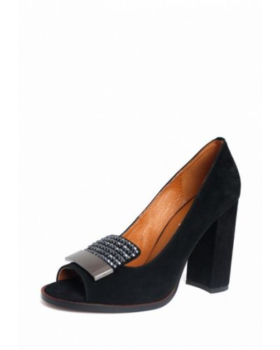 Замшевые туфли черный Blizzarini