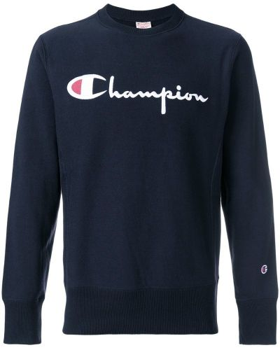 Синяя толстовка с логотипом Champion