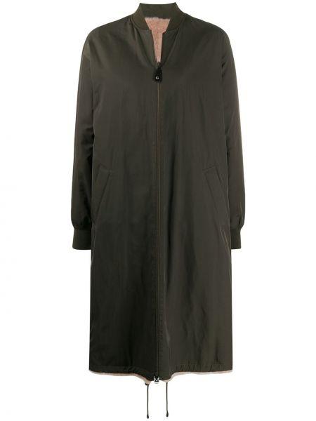 Пальто на молнии шерстяное Yves Salomon Army