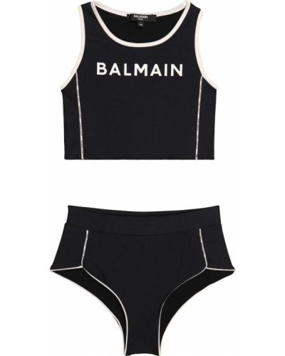 Czarny bikini Balmain Kids