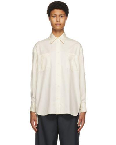 Рубашка с воротником с манжетами с карманами с заплатками Victoria Beckham