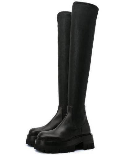 Черные резиновые сапоги Versace
