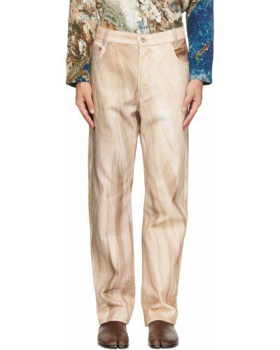 Niebieskie jeansy z paskiem srebrne Serapis