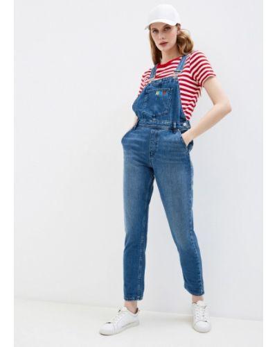 Синий джинсовый комбинезон Armani Exchange