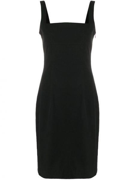 Черное расклешенное платье миди Givenchy Pre-owned