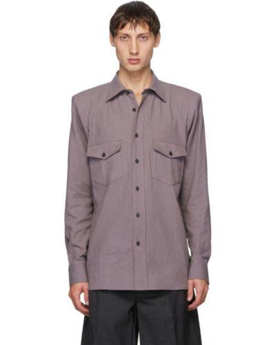 Рубашка с воротником с длинными рукавами с манжетами Dries Van Noten
