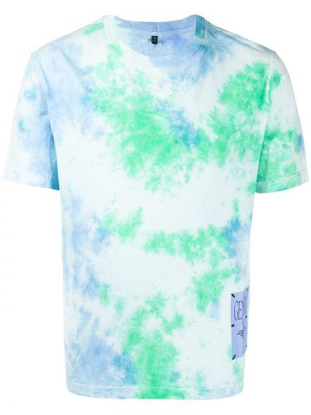 Niebieski t-shirt bawełniany krótki rękaw Mcq Alexander Mcqueen