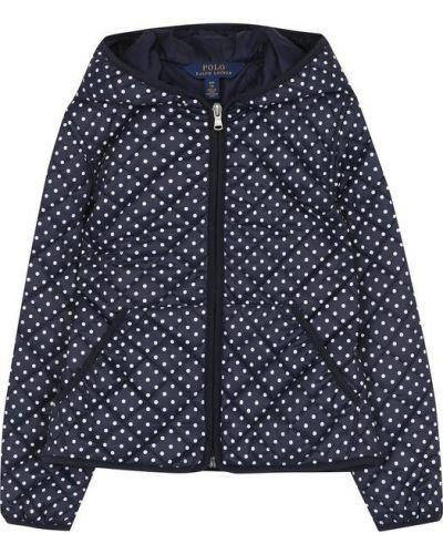 Стеганая куртка с капюшоном из полиэстера с карманами Polo Ralph Lauren