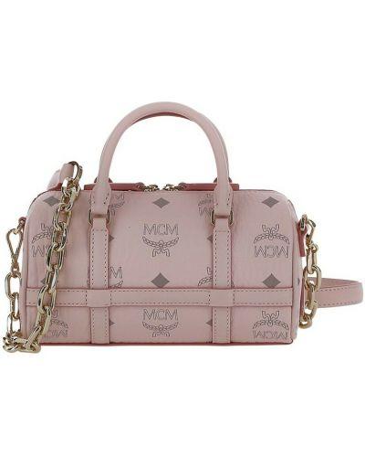 Różowa torebka Mcm