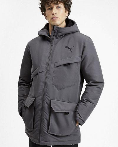 Утепленная куртка серая осенний Puma