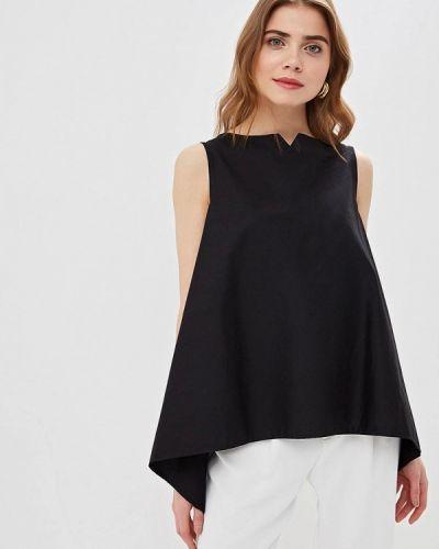 Блузка без рукавов весенний черная Massimiliano Bini