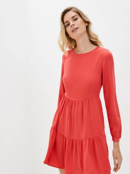 Турецкое весеннее красное прямое платье Lc Waikiki