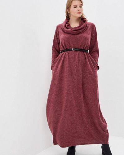 Платье бордовый вязаное Darissa Fashion