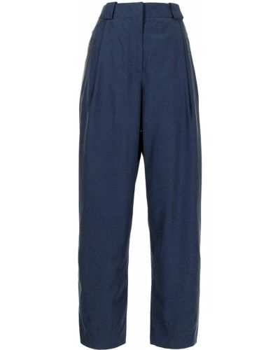 Прямые с завышенной талией брюки с карманами Giorgio Armani