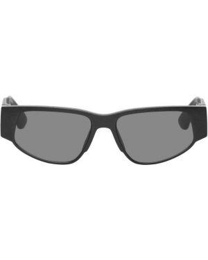 Okulary przeciwsłoneczne czarny ciemno szary Mykita