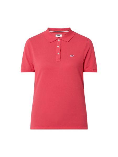 Różowy t-shirt bawełniany krótki rękaw Tommy Jeans