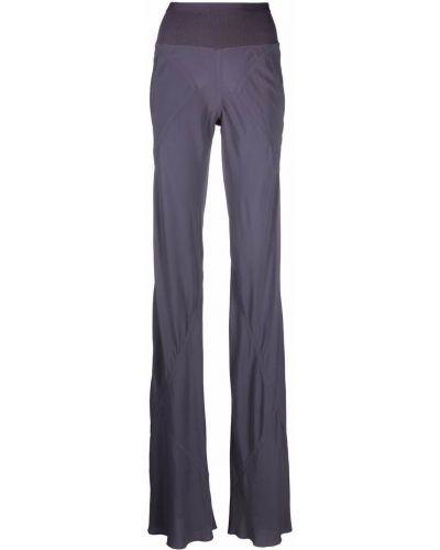 Шелковые брюки - фиолетовые Rick Owens Drkshdw