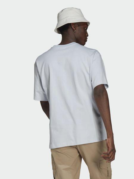 Хлопковая футболка с вырезом с короткими рукавами Adidas