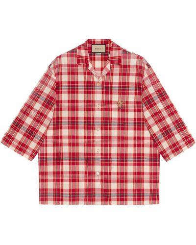 Koszula z haftem Gucci