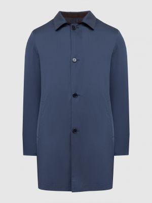 Шерстяное пальто - синее Enrico Mandelli