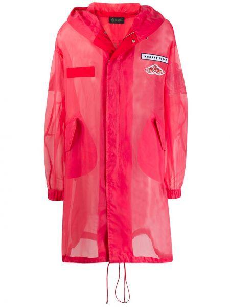 Розовый свободные плащ свободного кроя с капюшоном Mr & Mrs Italy