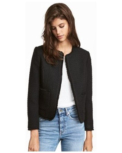 Пиджак с бахромой - черный H&m