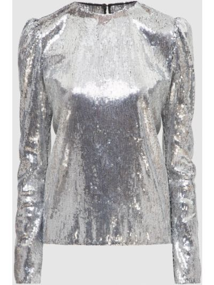 Серебряная блузка с пайетками Philosophy Di Lorenzo Serafini