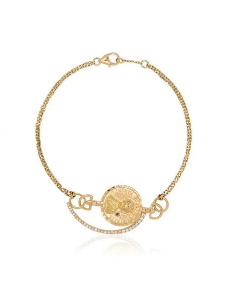 С ромбами золотой браслет металлический с бриллиантом золотой Anissa Kermiche