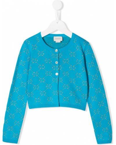 Кардиган синий Gucci Kids