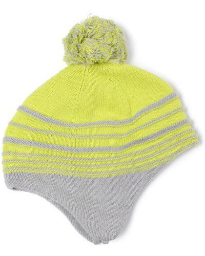 Зимняя шапка с помпоном оранжевый Playtoday Baby