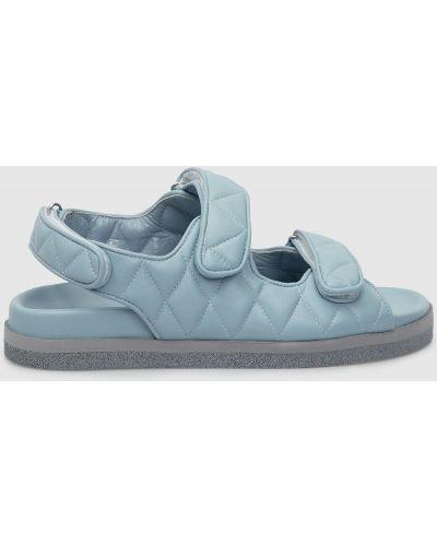 Кожаные сандалии - голубые Babe Pay Pls