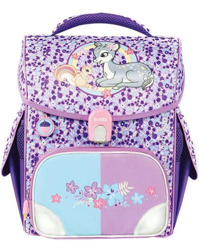 Фиолетовый школьный ранец из плотной ткани Tiger Enterprise