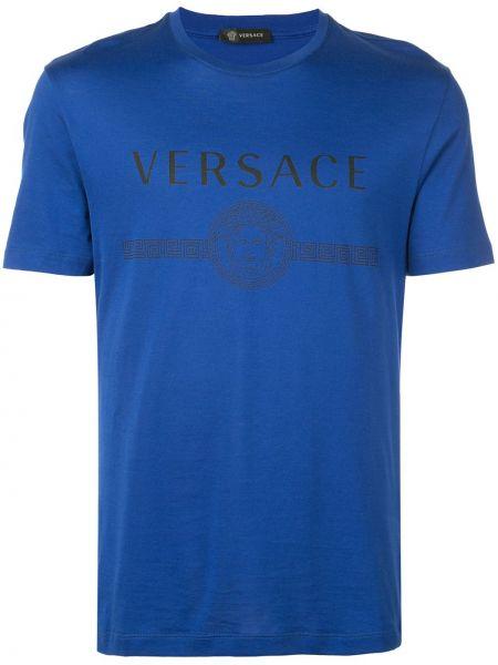 Koszula z logo z nadrukiem Versace