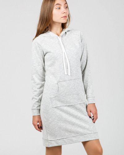 Платье платье-толстовка осеннее Street Style