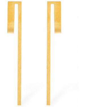Żółte złote kolczyki sztyfty pozłacane Hsu Jewellery London