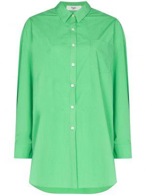 Зеленая хлопковая рубашка Frankie Shop