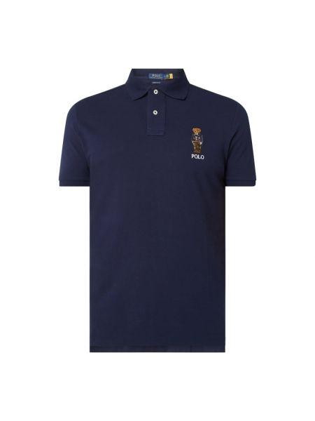 Bawełna bawełna niebieski t-shirt z haftem Polo Ralph Lauren