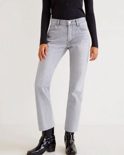 Серые прямые джинсы Mango