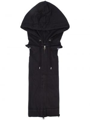 Жилетка с капюшоном черная Veronica Beard