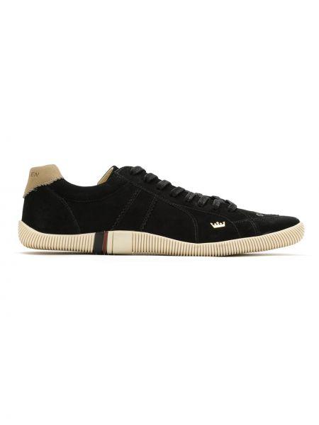 Кожаные черные кроссовки на шнуровке Osklen