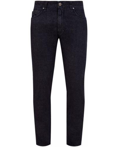 Деловые кожаные черные брюки Cortigiani