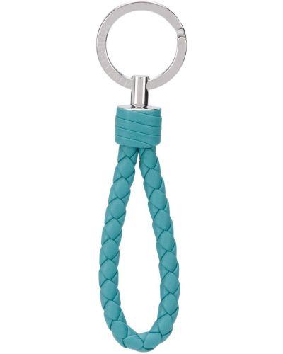Синий брелок металлический с пряжкой Bottega Veneta