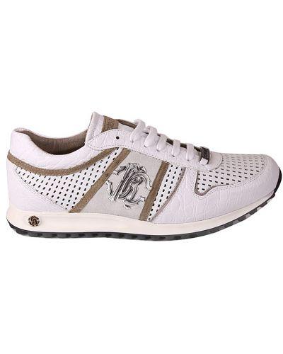 Белые кроссовки Roberto Cavalli
