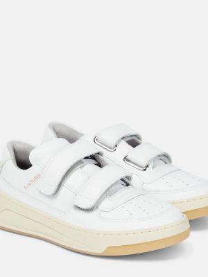 Кожаные кроссовки - белые Acne Studios