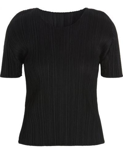 T-shirt - czarna Issey Miyake