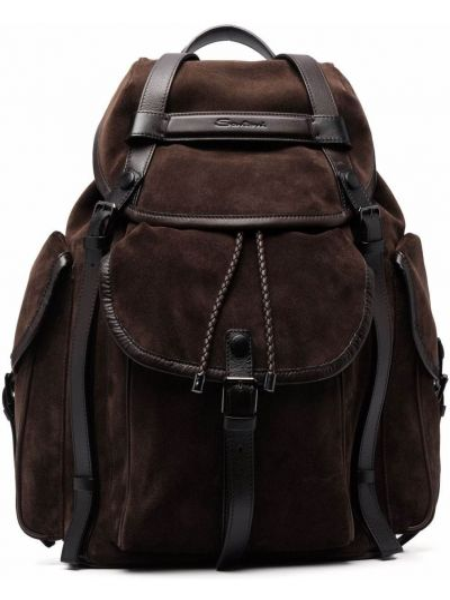 Кожаная сумка - коричневый Santoni