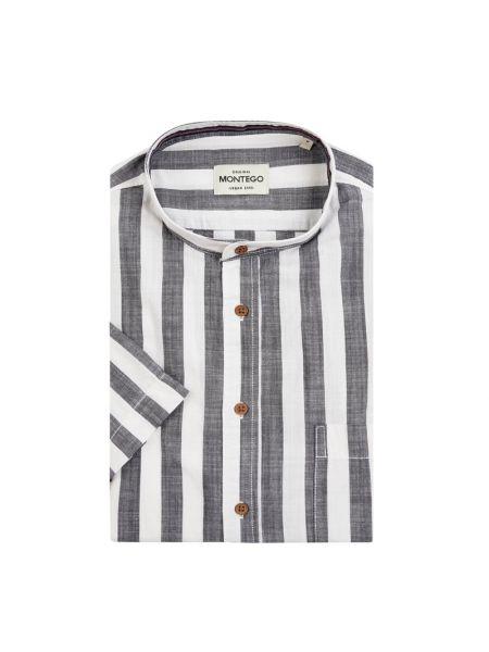 Koszula krótkie z krótkim rękawem codziennie na paskach Montego
