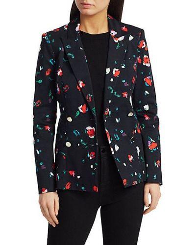 Черный удлиненный пиджак двубортный с длинными рукавами Derek Lam