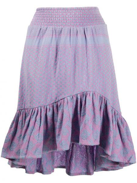 Ватная хлопковая фиолетовая асимметричная юбка Cecilie Copenhagen