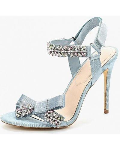 Голубые босоножки на каблуке Aldo